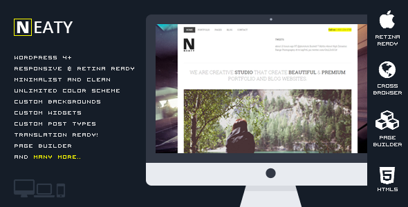 Neaty – Responsive Portfolio WordPress Theme