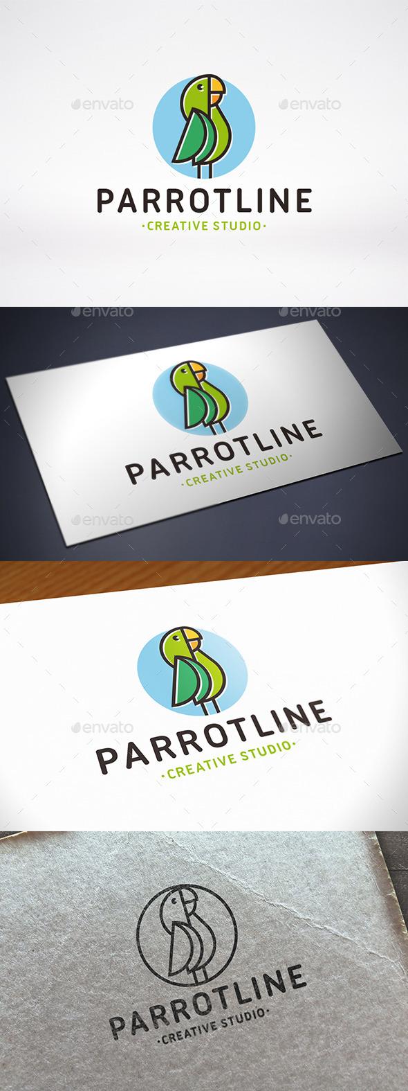 Parrot Logo Template - Animals Logo Templates