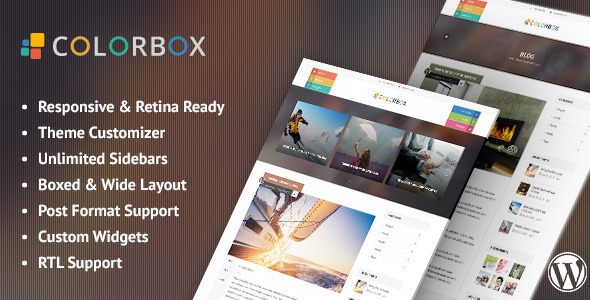 Colorbox – Responsive WordPress Blog Theme