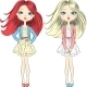 Fashion Girls in Summer Dress - GraphicRiver Item for Sale
