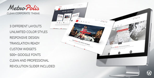 Metropolis - Clean Multipurpose WordPress Theme