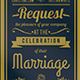 Exclusive Vintage Wedding Invitation - GraphicRiver Item for Sale