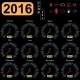 2016 Year Calendar Speedometer Car - GraphicRiver Item for Sale