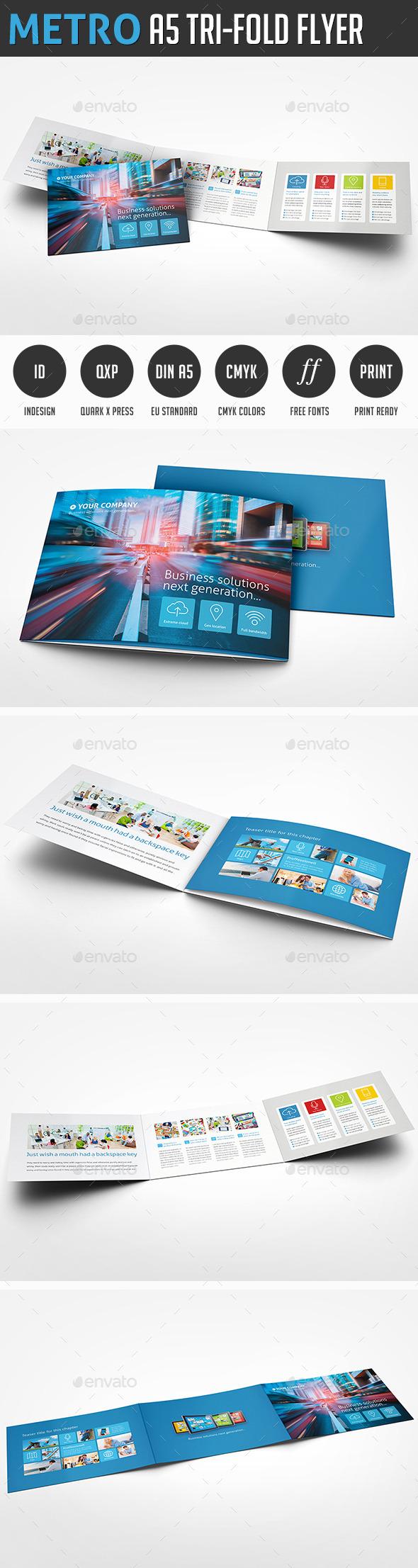 Metro Horizontal Tri-Fold - Corporate Brochures