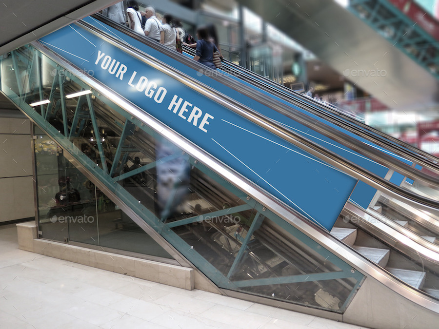 3 Escalator Advertising Mockups By Limoncello12 Graphicriver