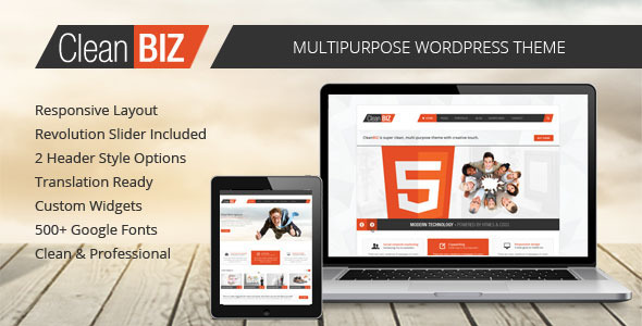 CleanBIZ – Multipurpose WordPress Theme
