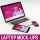 Laptop Realistic Mock-Up - GraphicRiver Item for Sale