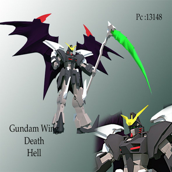 gundam wing death hell - 3DOcean Item for Sale