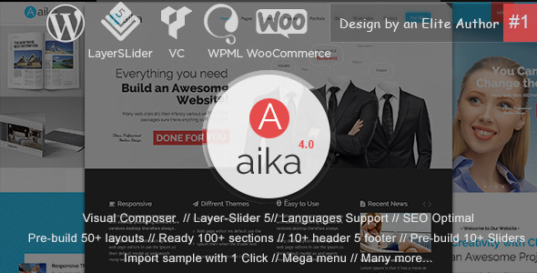Aaika – MultiPurpose WordPress Theme