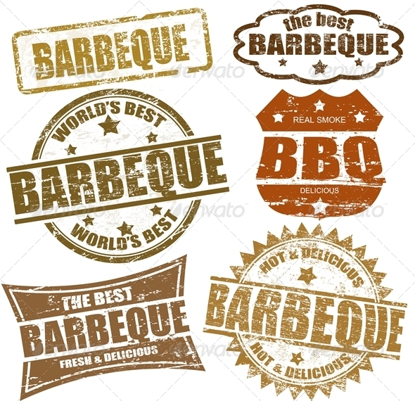 Barbeque Stamps - Food Objects