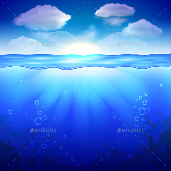 Sky and Underwater Background - Landscapes Nature