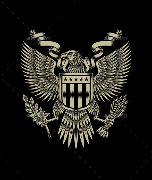 American Eagle Emblem By Vectorfreak Graphicriver