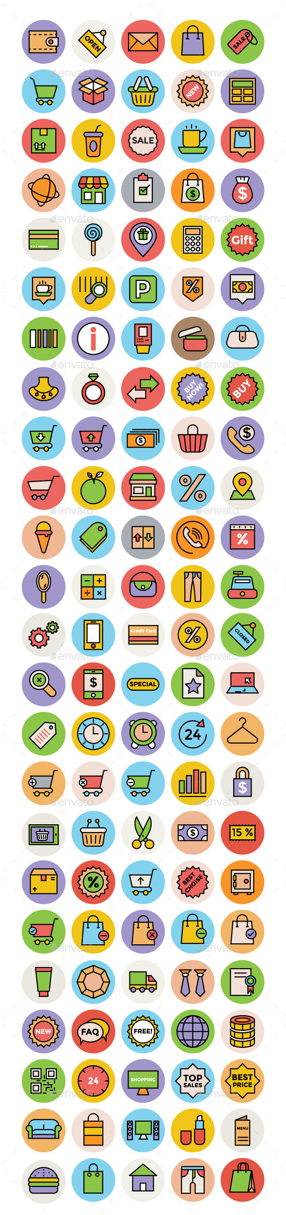 100+ Shopping and Commerce Vector Icons - Technology Icons