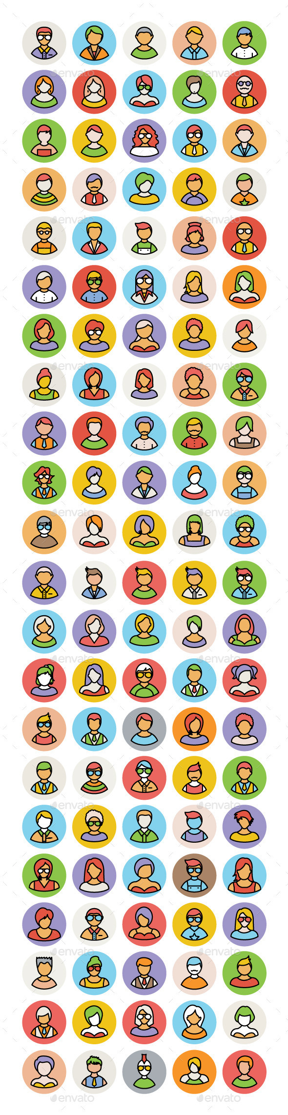 100+ People Avatar Vector Icons - People Characters