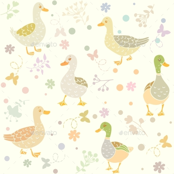 Ducks Seamless - Patterns Decorative