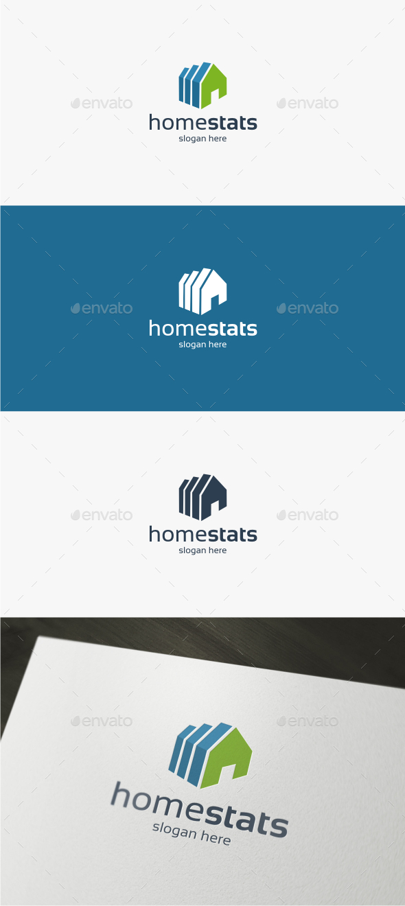 Home Stats - Logo Template - Symbols Logo Templates
