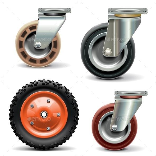Trolley Wheels - Man-made Objects Objects