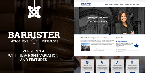 Barrister – Responsive Law Business Joomla Template