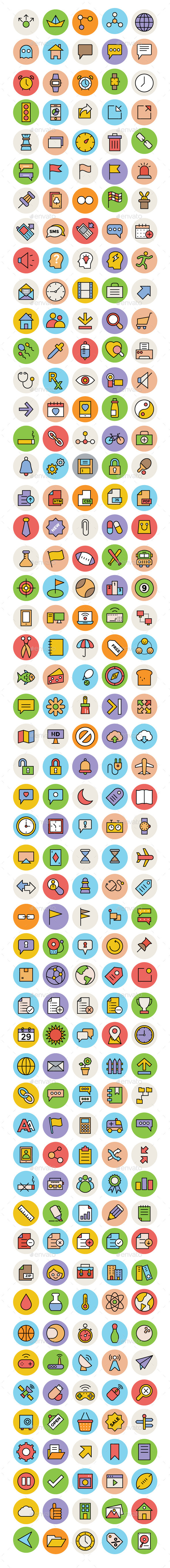 250+ Basic Essentials Vector Icons - Icons