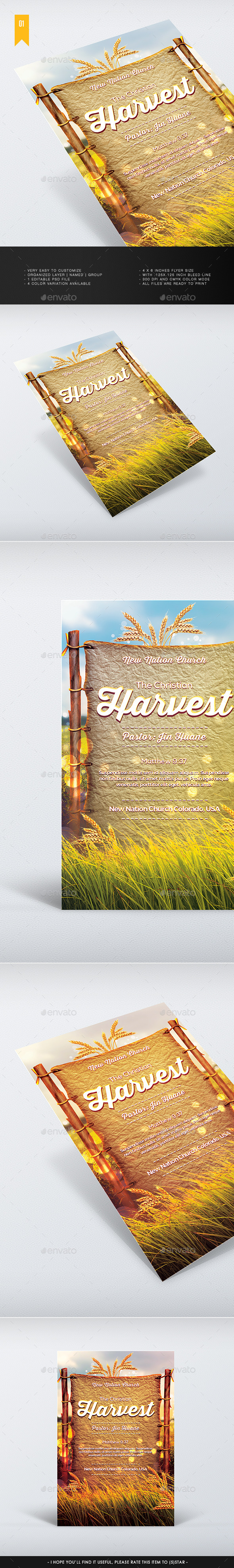 Harvest - Church Flyer - Church Flyers