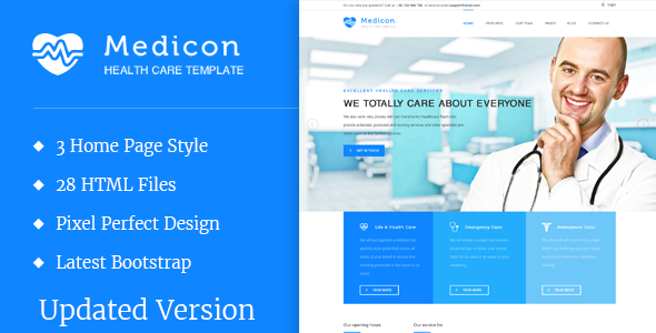 Medicon – Health and Medical HTML Template