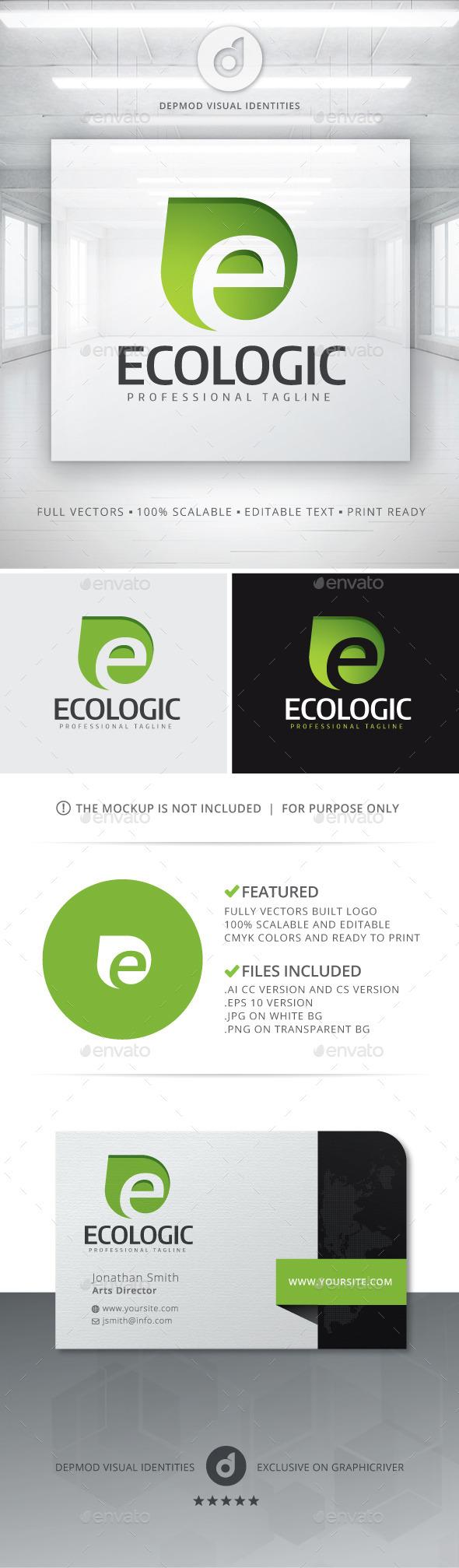 Ecologic Logo - Letters Logo Templates
