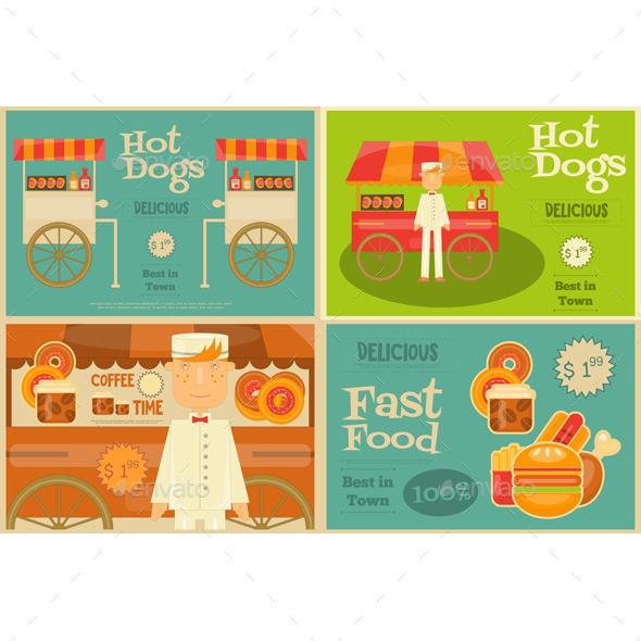 Fast Food Mini Posters - Food Objects