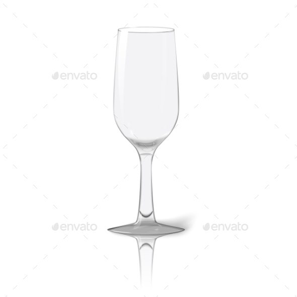 Blank Tall Transparent Photo Realistic Glass - Man-made Objects Objects
