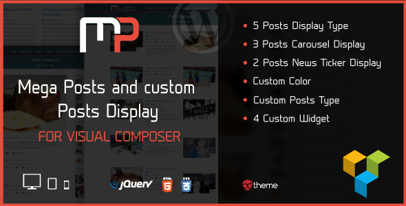 Mega Posts Display for Visual Composer - CodeCanyon Item for Sale
