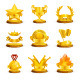 Golden Awards Vector Icons - GraphicRiver Item for Sale
