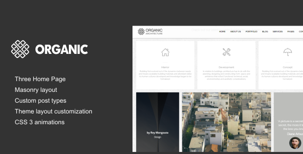 Organic – Architecture & Creatives WordPress Theme
