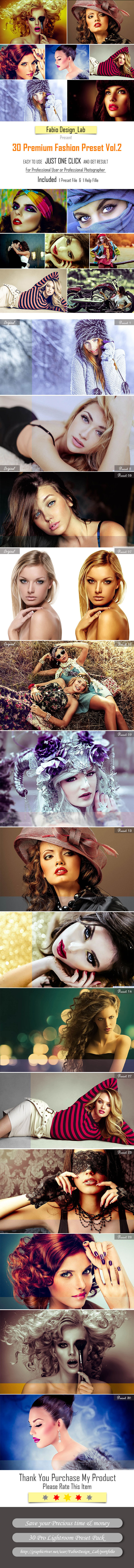 30 Premium Fashion Preset Vol.2 - Portrait Lightroom Presets