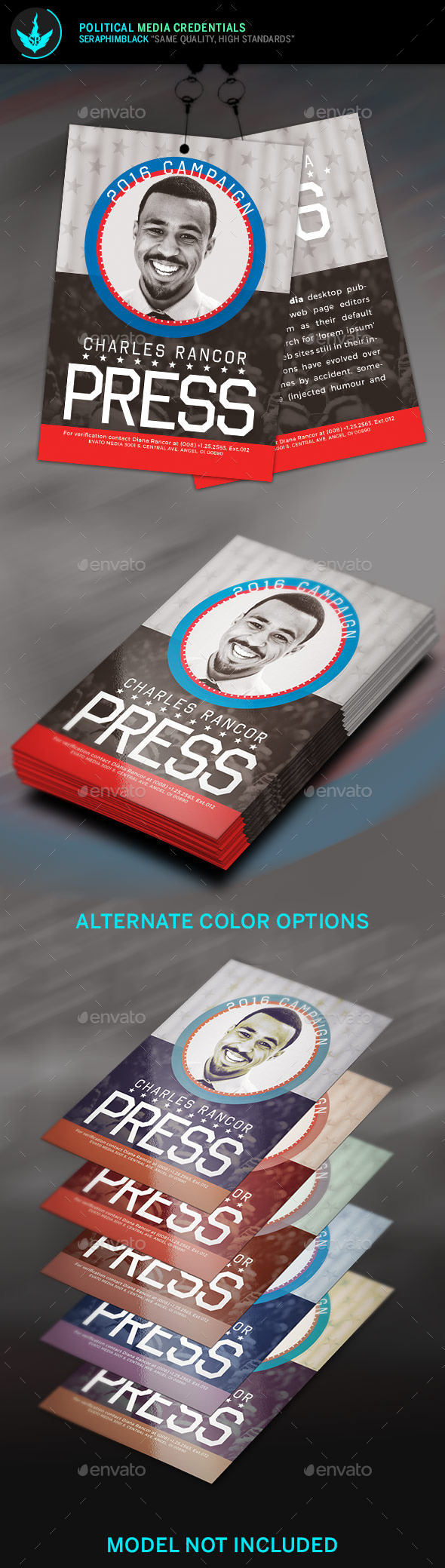 Political media credentials template by seraphimblack for Media pass template