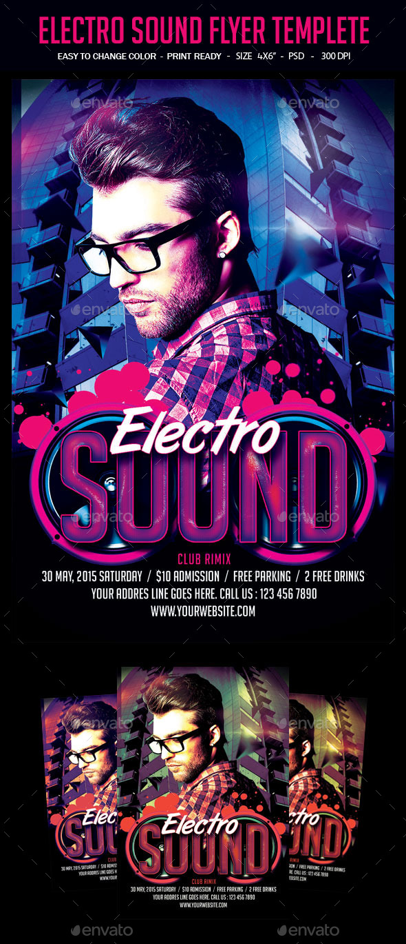 Electro Sound Flyer Templete - Clubs & Parties Events