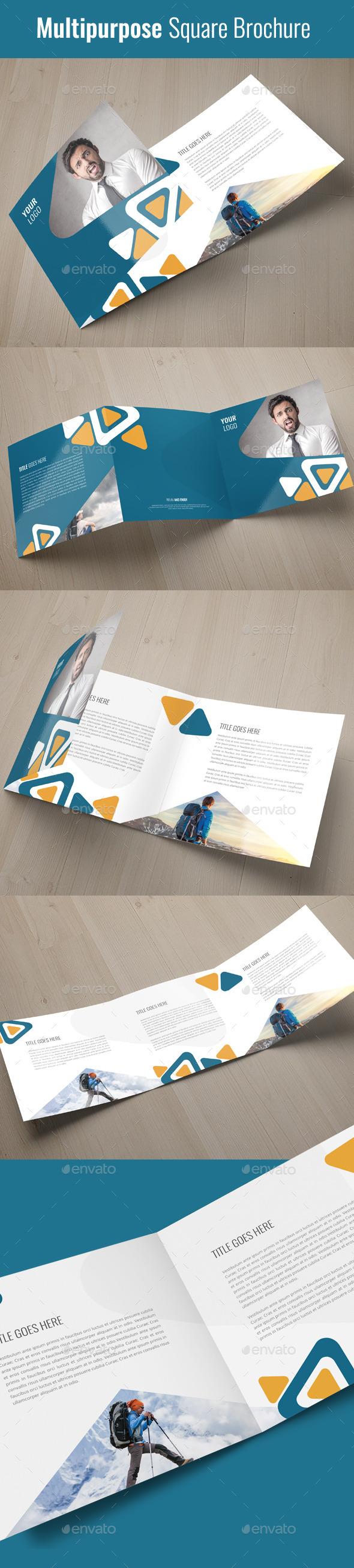 Square Trifold Brochure ( Multipurpose)   - Corporate Brochures