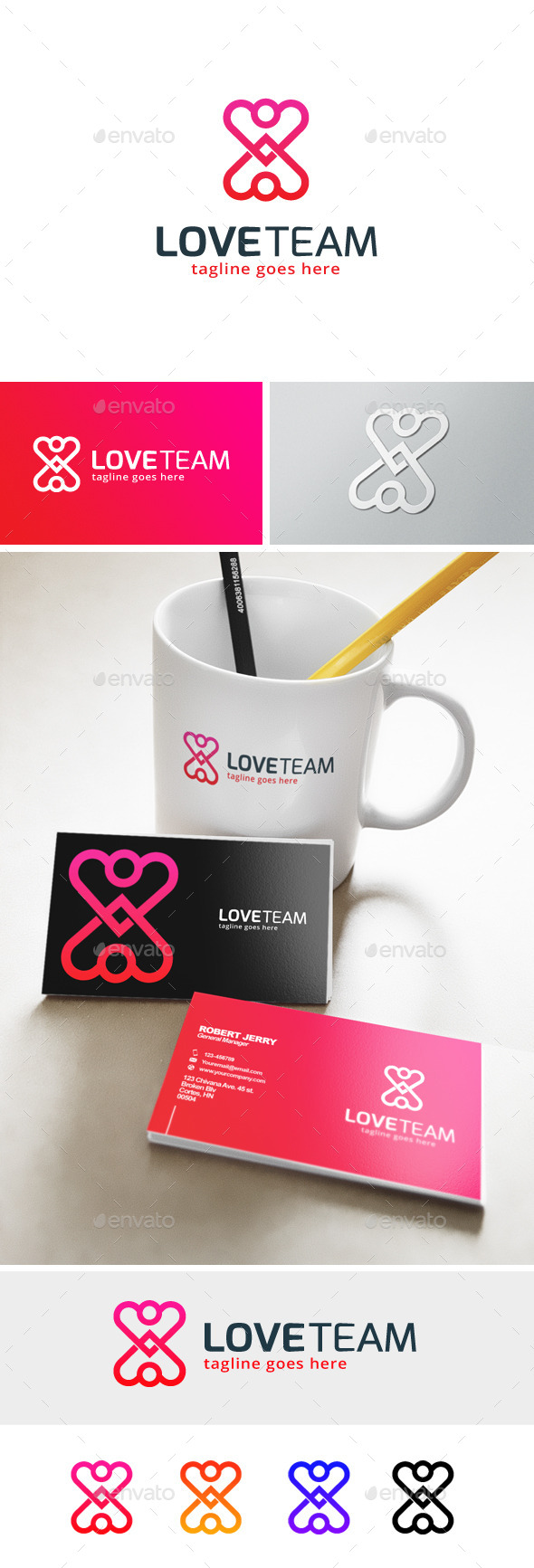 Love Team Logo - Humans Logo Templates