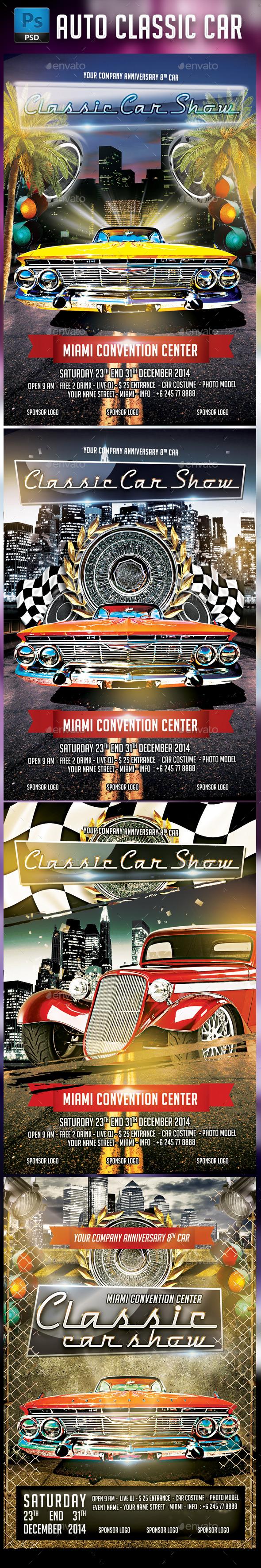 Classic Car Bundle - Events Flyers