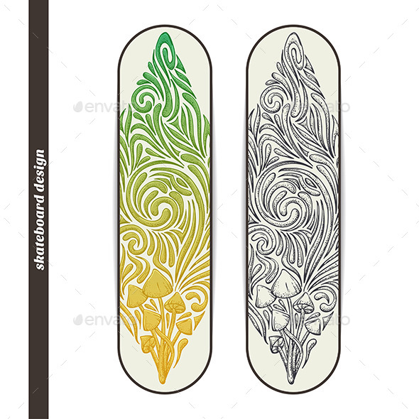 Skateboard Design Five - Conceptual Vectors