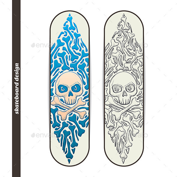 Skateboard Design One - Conceptual Vectors