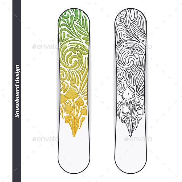 Snowboard Design Five - Conceptual Vectors