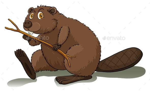 An Eager Beaver - Animals Characters
