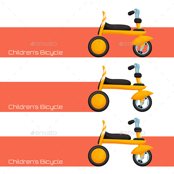 Childrens Bicycle One - Patterns Decorative