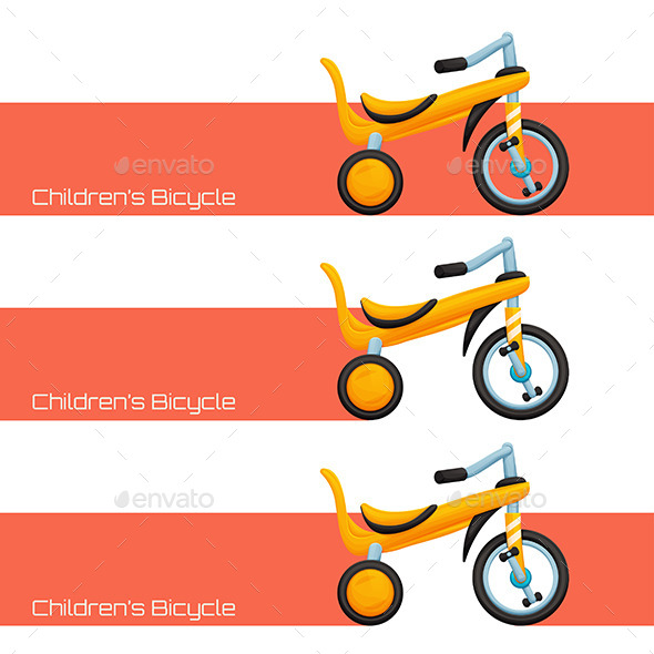 Childrens Bicycle Two - Conceptual Vectors