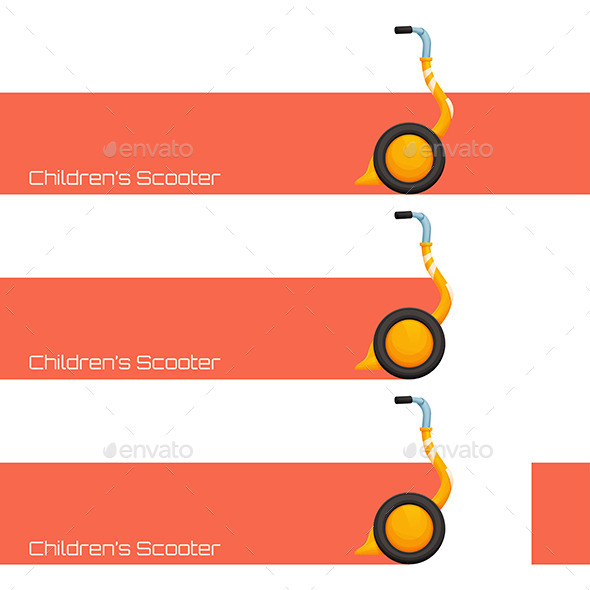 Childrens Scooter One - Conceptual Vectors