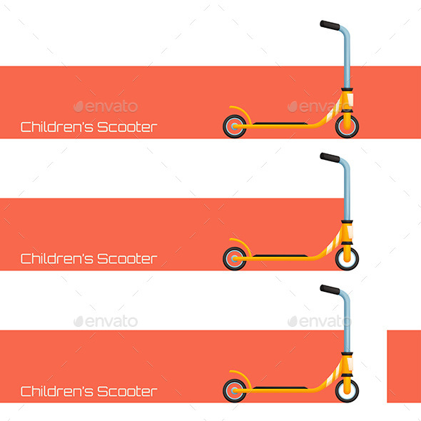 Childrens Scooter Two - Conceptual Vectors
