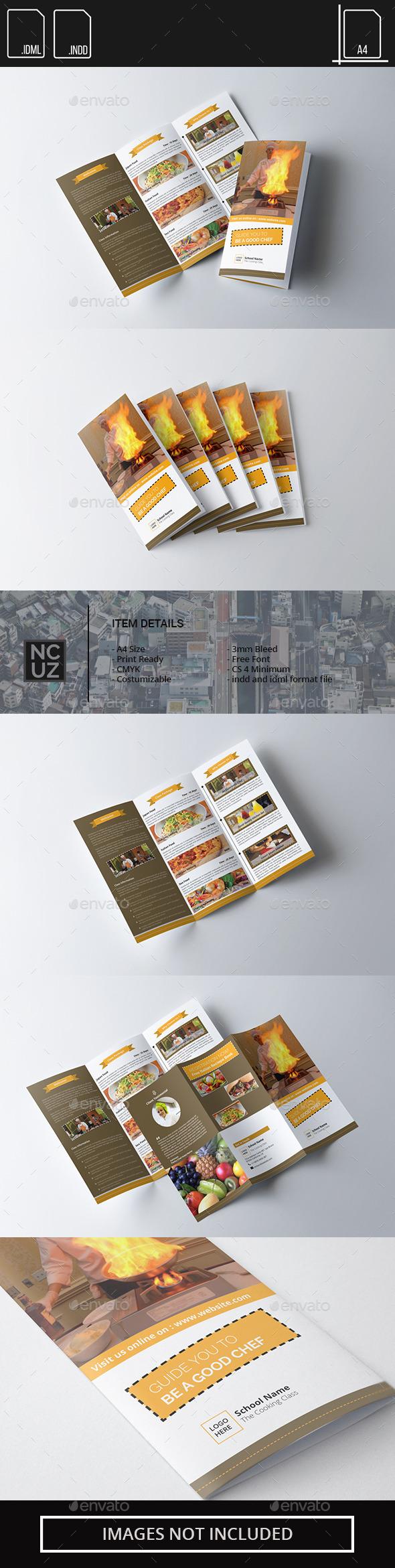 Brochure Trifold School Chef - Corporate Brochures