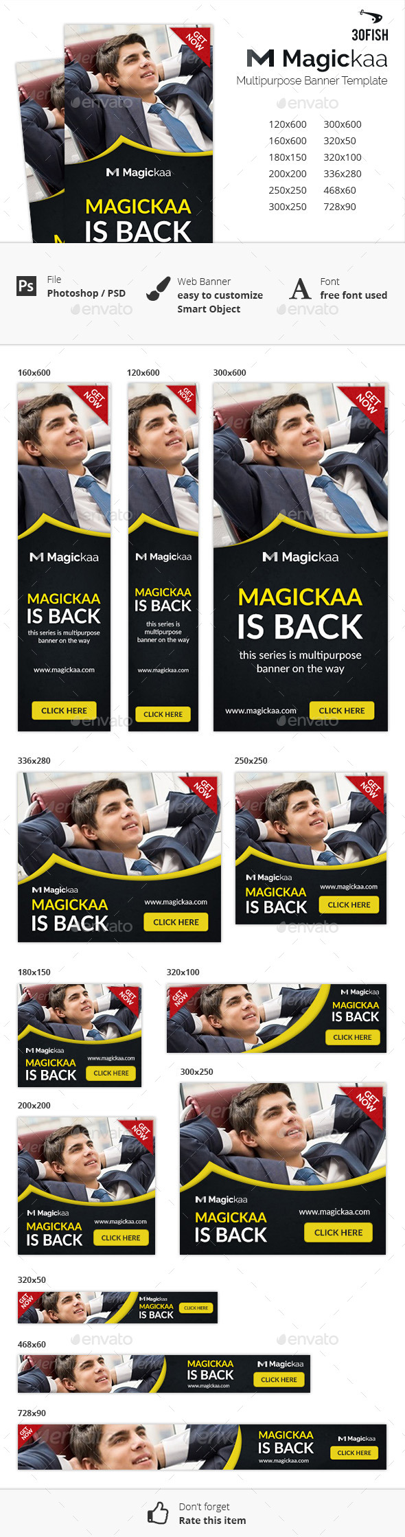 Magickaa Multipurpose Banner - Banners & Ads Web Elements