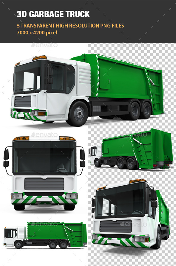 3D Garbage Truck - Objects 3D Renders