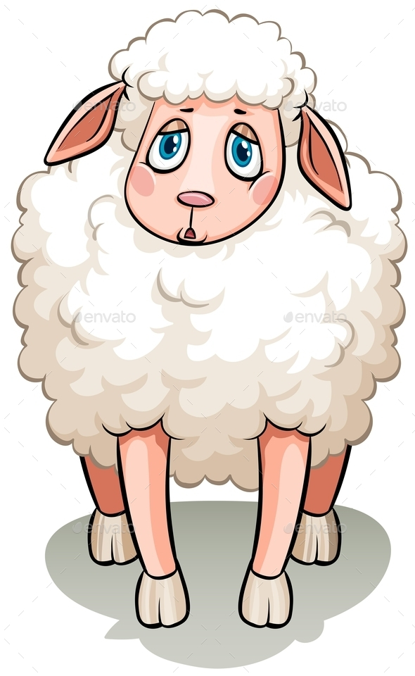 A White Sheep - Animals Characters