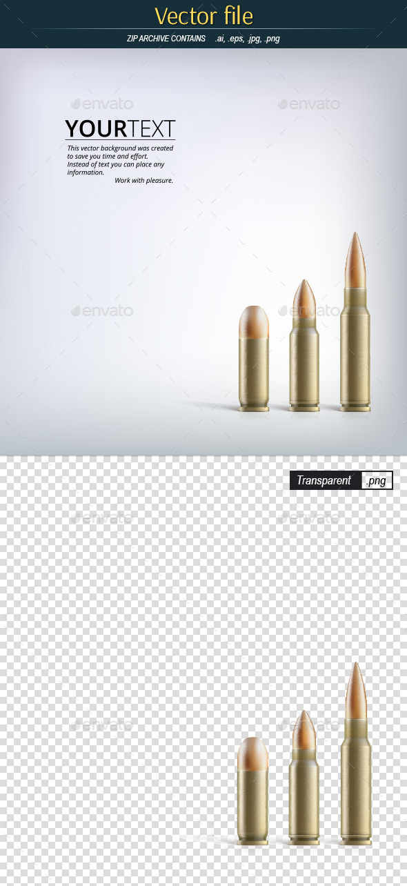 Background for Presentations with Three Bullets - Decorative Symbols Decorative